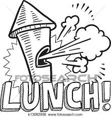 5034 Lunch Break Cliparts Stock Vector And Royalty Free