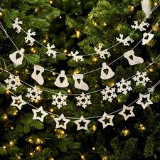 Christmas Garland Pendants Tree Cutouts DecorationSanta Claus Smowman Hanging Decoration Supplies In Pendant Drop Ornaments From Home