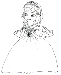 Sofia The First Coloring Pages Princess Angel Costume