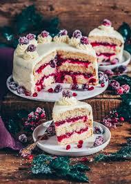 cranberry torte vanillekuchen vegan