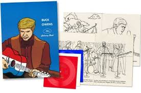 Buck Owens Flexi Disc Red 7 With Vintage Coloring Book Record Store Day 2012