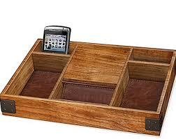 Mens Leather Dresser Valet by Jewelry Wood Organizer Box Storage Dresser Valet Mens Tray Wooden