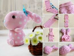How To Make Cute Sock Bunny Crafts Step By DIY Tutorial Instructions