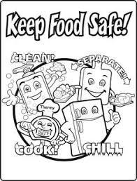 Warm Food Safety Coloring Pages Garfield Cartoon