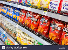 Lays Utz And Doritos Potato Chips On Display At A Walgreens Flagship Store