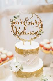 Laser Cut Rustic Mr Mrs Gold Wreath Personalized Wedding