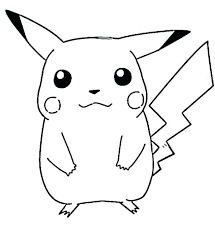 Pokemon Pikachu Coloring Pages Free Printable Print Color Craft