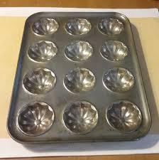 Vintage Tin Muffin Pan 12 Hole Baking Tart Patty