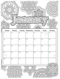 Added Jan 9 Start Your Year Off Right With This Colorable Calendar For The Month Of January PDF And