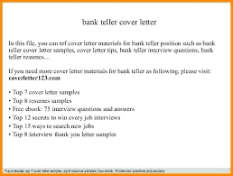 Bank Teller Cover Letter Examples 24 Cover Letter Template for Bunch