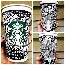 Drawn Starbucks Sharpie