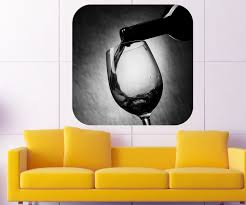 wein wandbild weinflasche glas restaurant wandaufkleber wandsticker wandtattoo esszimmer aufkleber sticker 11a209 wandtattoos und leinwandbilder