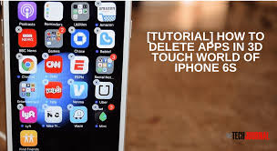 Tutorial How to Delete Move Apps In 3D Touch iPhone 6s The