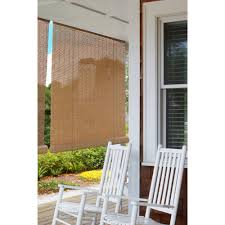 Roll Up Patio Shades Bamboo by Eclipse Vinyl Roll Up Blinds Walmart Com