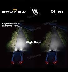 h7 12000lumen headl high low beam 6500k led replace hid broview