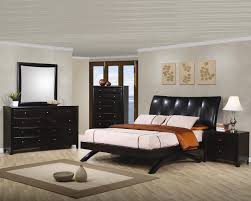 King Platform Bed With Leather Headboard by Coaster Phoenix Contemporary California King Platform Bed With