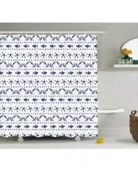 Shower Curtain Anchor Starfish Sea Life Print For Bathroom