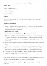 Maintenance Resume Objective Work Unthinkable Objectives Automotive Planner Sample