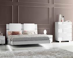 Calyx White Modern Bed With Curved Headboard The Holland