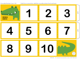Crocodile Number Line 1 10 This can be a child s first number line