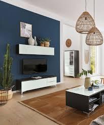 wohnzimmer modern einrichten shino wohnwand in schwarz weiß