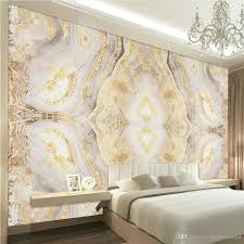 100 Marble Walls Vintage Non Woven 3D Luxurious Golden Pattern Murals Waterproof Wall Paper Of For Living Room Office Background Dec Pictures For