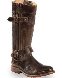 bed stu women s brown gogo lug strap boots round toe country