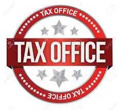 taxes sur les bureaux timbre en caoutchouc marqué avec design illustration taxe sur les