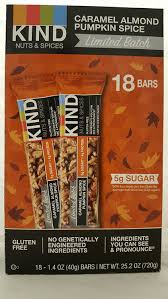 Pumpkin Seeds Low Glycemic Index by Amazon Com Kind Caramel Almond Pumpkin Spice Bar Limitied Batch