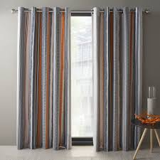 Navy And White Striped Curtains by Blue And Orange Curtains Homescapes Multi Stripes Yellow Eyelet