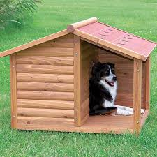 Give Your Pet A Place To Escape The Elements With Trixies Rustic Dog House Charming Covered Porch Solid Pine Construction And Use Of