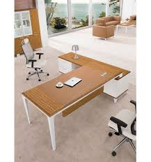 Modern Design Unique Tall White High Gloss Office Desk