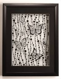 Beautiful Composition Mounted In A Simple Black Frame With Glass At Both Sides Makes Her Art Look