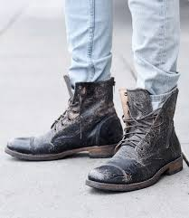 Men s Leather Boots Wingtip Cap Toe Rugged BED STU