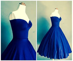 Dress Retro Prom Cocktail Blue Vintage Pinkyprom Red 1950s