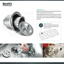 Garbage Disposal Backing Up Into 2nd Sink by Ruvati Rvm4250 Undermount 16 Gauge 30 U2033 Kitchen Sink Single Bowl