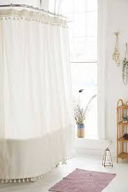Plum And Bow Pom Pom Curtains by Shower Curtains Bathroom Curtains Urban Outfitters