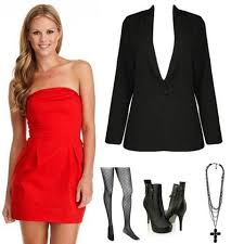strapless red dress casual inofashionstyle com