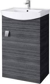 planetmöbel waschbecken mit waschbeckenunterschrank waschtisch unterschrank 45cm gäste bad wc anthrazit