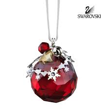 Dillards Christmas Decorations 2014 by Swarovski Red Crystal Christmas Ornament Light Siam Satin 5155701