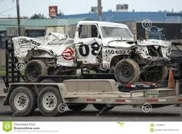 Wrecked Truck After Demolition Derby Editorial Image - Image Of ...