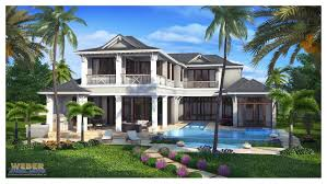 West Indies House Plan Naples Florida Architecture Weber Design