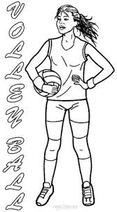 Printable Coloring Sheet Of Volleyball Online