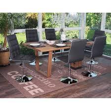 esszimmerstuhl hwc c41 stuhl küchenstuhl höhenverstellbar drehbar kunstleder grau