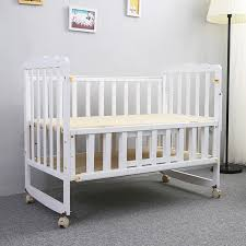 2016 Folding bed multifunction wood crib baby bed height