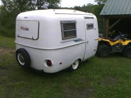 1970s 13ft Boler Fiberglass Camper Trailer Needs Cushion For Table Bed Have Ownership