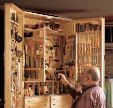 Synopsis This Hanging Tool Cabinet Holds More Than 300 Tools While Covering Only About 12 Sq Ft Of Wall It Does Through Judicious Use Space