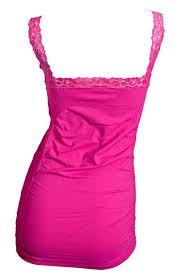 jr plus size stretchy long lace cami top pink evogues apparel