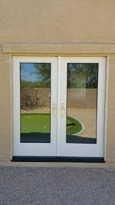 Therma Tru Patio Doors by Thermatru S2000le Flush Glazed French Doors We Removed A Window