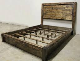 Awesome Rustic Platform Bed Frame Home Design Ideas Inside